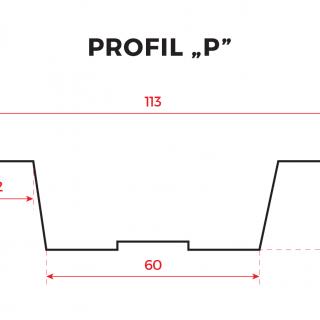 Sztachety metalowe powlekane – Profil P